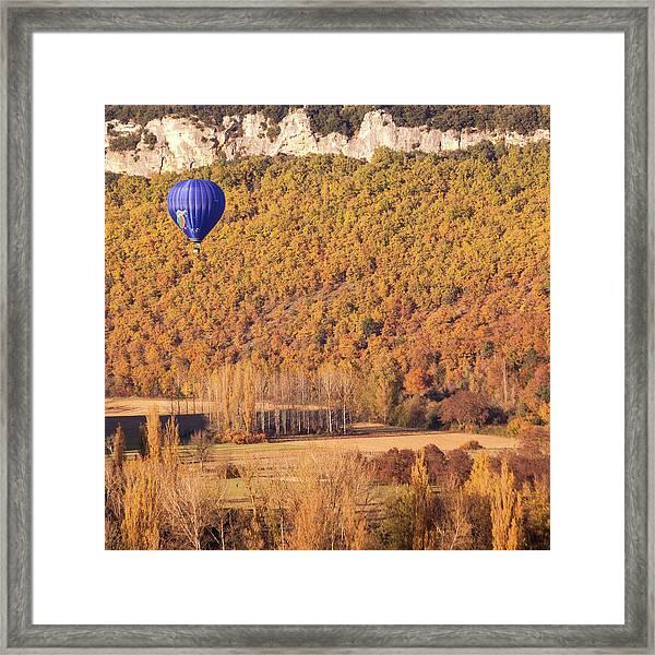 Hot Air Balloon, Beynac, France Framed Print