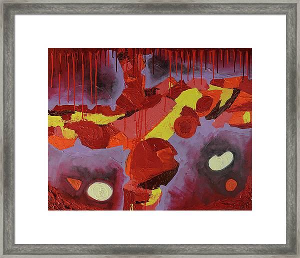 Hot Red Framed Print