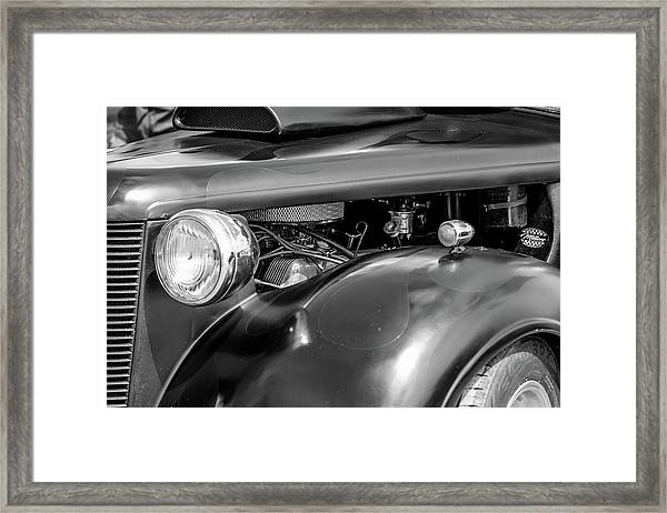 Framed Print featuring the photograph Hot Rod Engine by Elliott Coleman