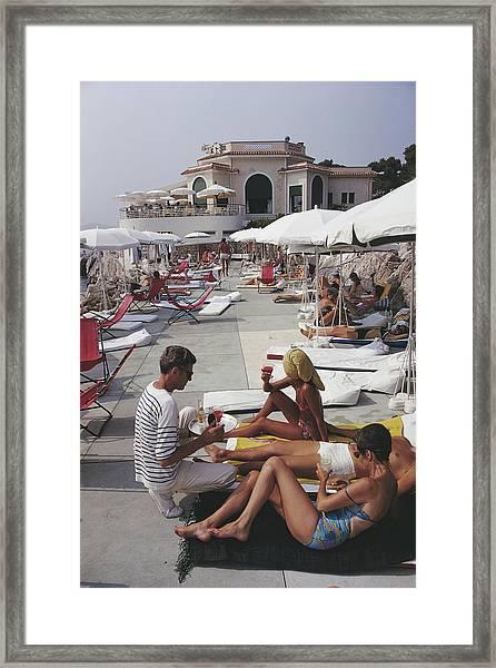 Hotel Du Cap Framed Print by Slim Aarons