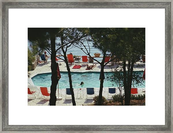 Hotel Il Pellicano Framed Print by Slim Aarons