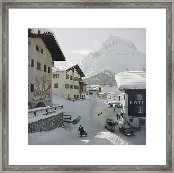 Hotel Krone, Lech Framed Print by Slim Aarons