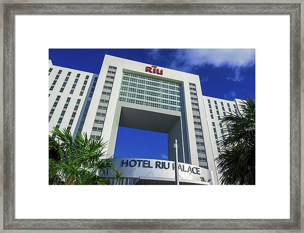 Hotel Riu Palace In Cancun Framed Print