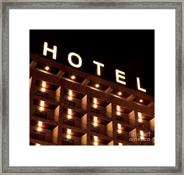 Hotel Sign Framed Print