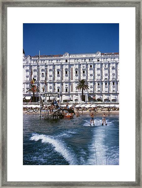 Hotel Sports Framed Print by Slim Aarons