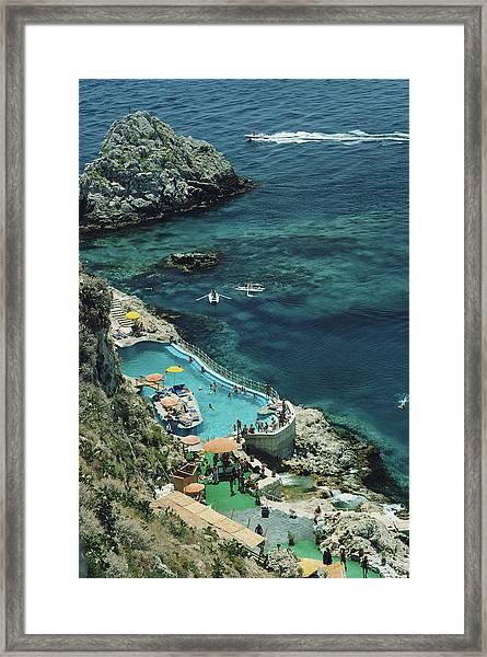 Hotel Taormina Pool Framed Print