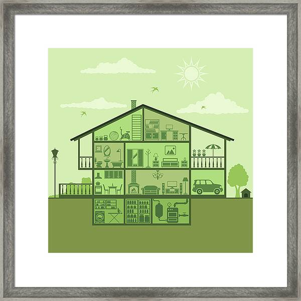 House Interior Framed Print