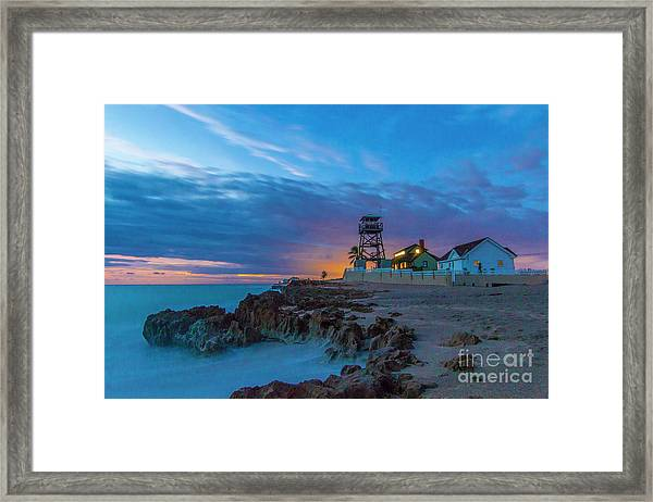 Framed Print featuring the photograph House Of Refuge Morning by Tom Claud