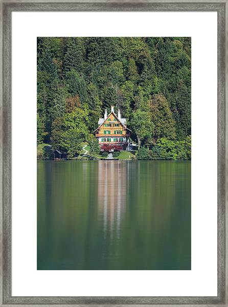 House On The Lake Framed Print
