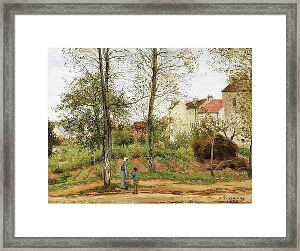 Houses At Bougival, Autumn - Digital Remastered Edition Framed Print
