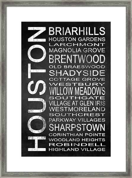 Houston Tx 7 Framed Print