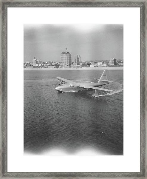 Howard Hughes H-4 Hercules Troop Framed Print