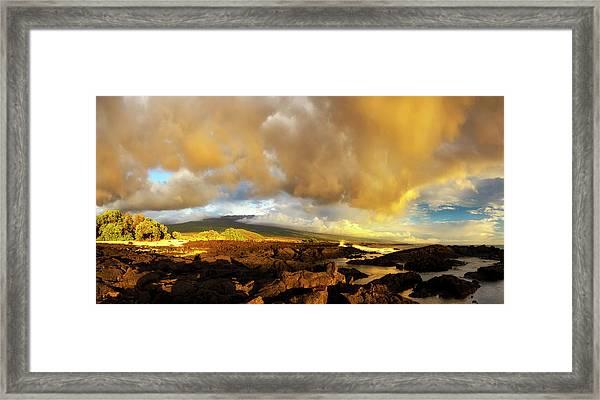 Hualalai Sunset Framed Print