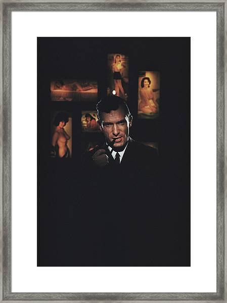 Hugh Hefner Framed Print by Slim Aarons
