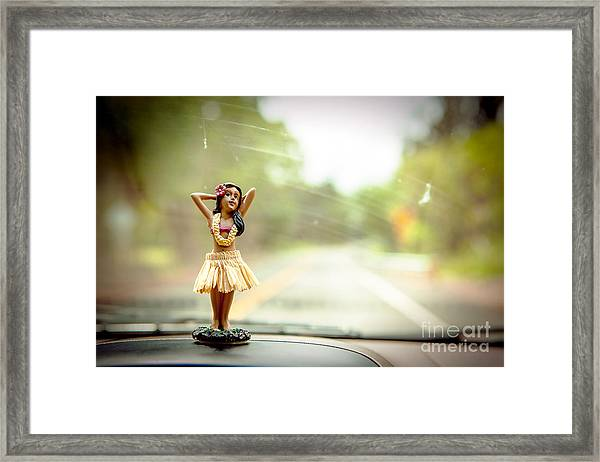 Hula Dancer Framed Print by Henry Lien