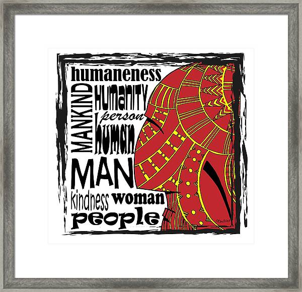 Human Being Framed Print