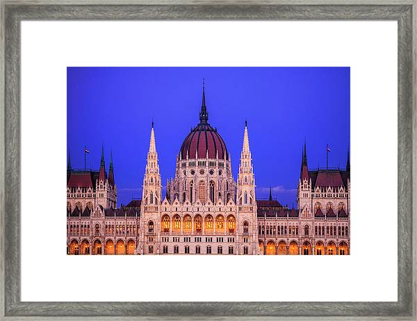 Hungarian Parliament Framed Print by Andrew Soundarajan