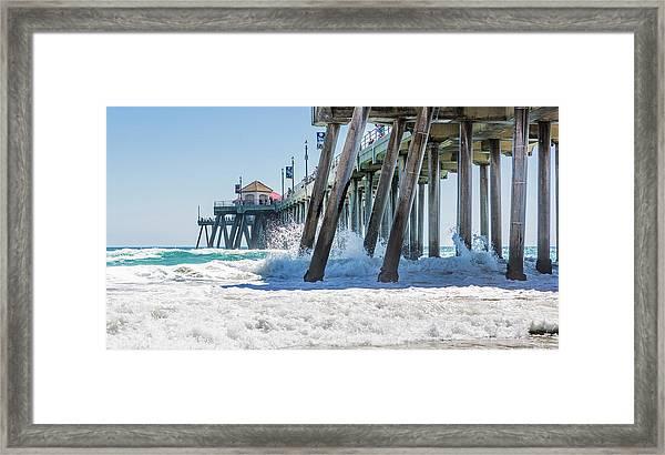 Huntingdon Beach Pier Framed Print