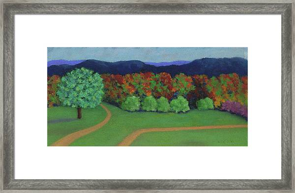 Hutchins Farm In Fall Framed Print