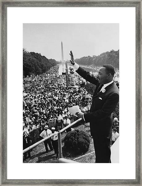 I Have A Dream Framed Print by Hulton Archive