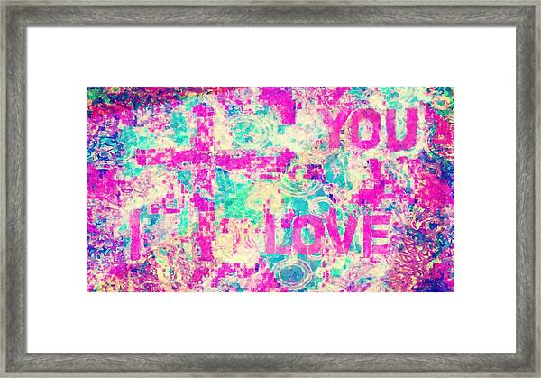 I Love You Jesus Framed Print