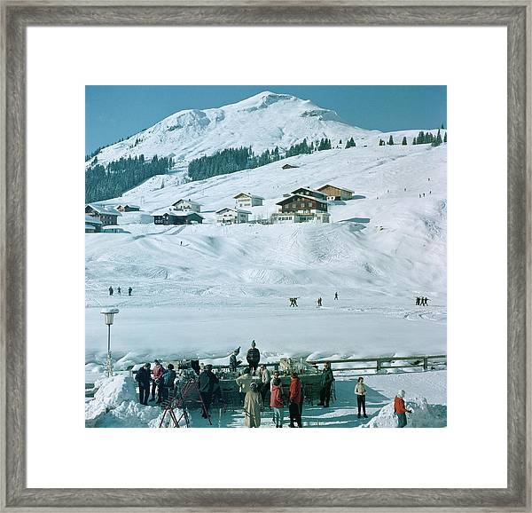 Ice Bar In Lech Framed Print