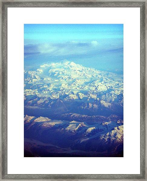 Ice Covered Mountain Top Framed Print