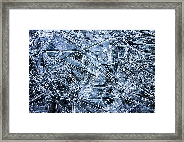 Framed Print featuring the photograph Ice Crystals by Dawn Richards