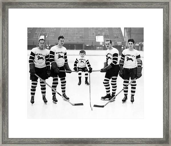 Ice Hockey Mascot Framed Print