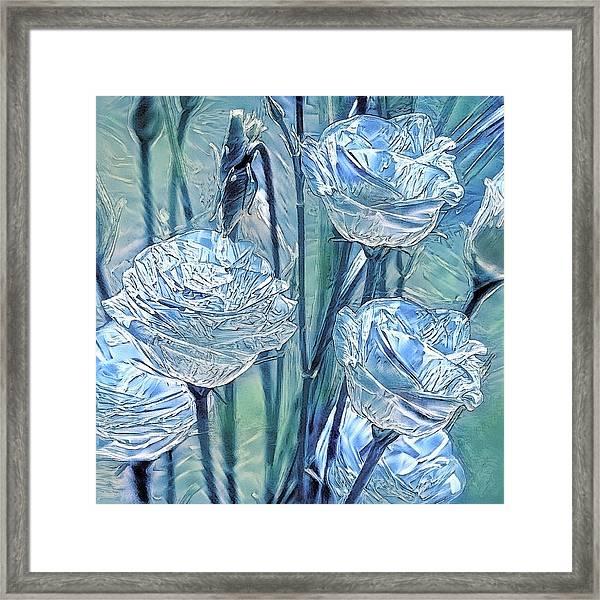 Ice Lisianthus Framed Print