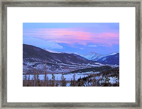 Ice Pink Clouds  Framed Print