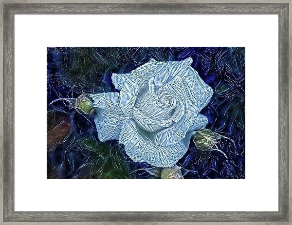 Ice Rose Framed Print