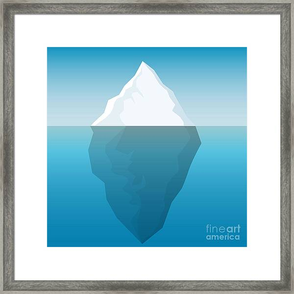 Iceberg Background Framed Print