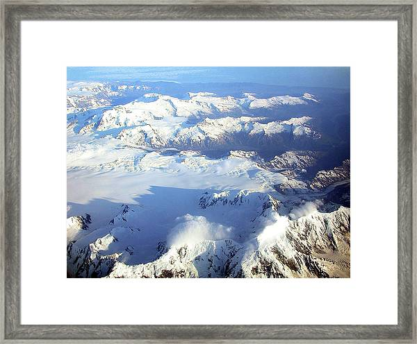 Icebound Mountains Framed Print