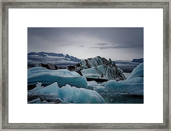 Icy Stegosaurus Framed Print