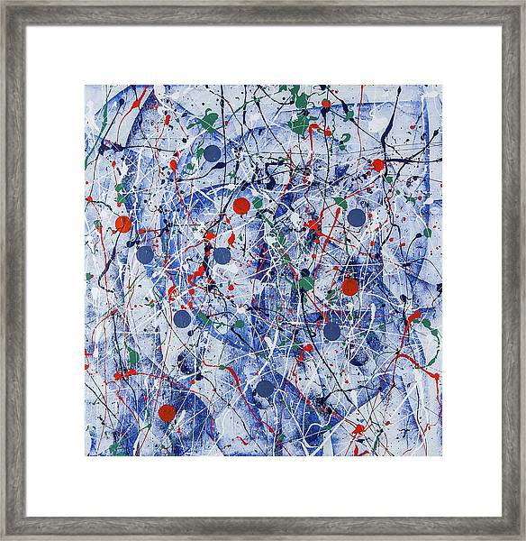 Icy Universe Framed Print