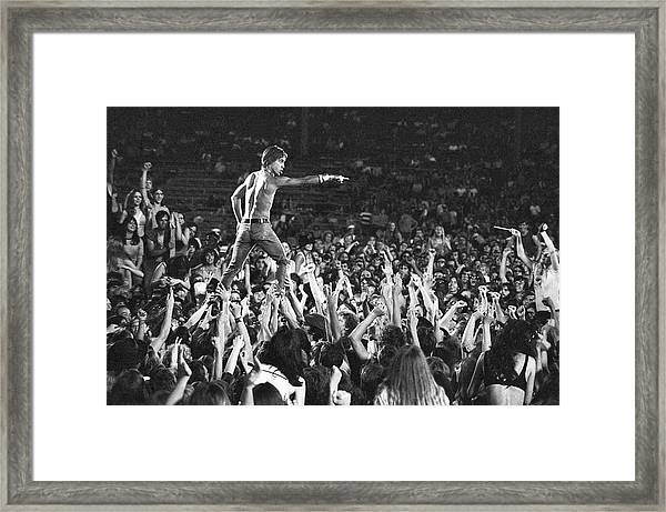 Iggy Pop Live Framed Print