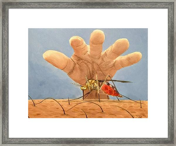 Framed Print featuring the painting Ignorance Is Bliss by Kevin Daly