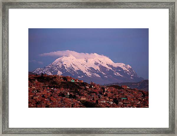 Illimani (6438m/21,122ft Framed Print