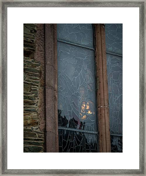 Illumination Stained Glass Framed Print