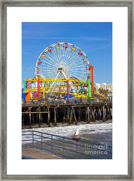 Image Of A Popular Destination The Pier Framed Print