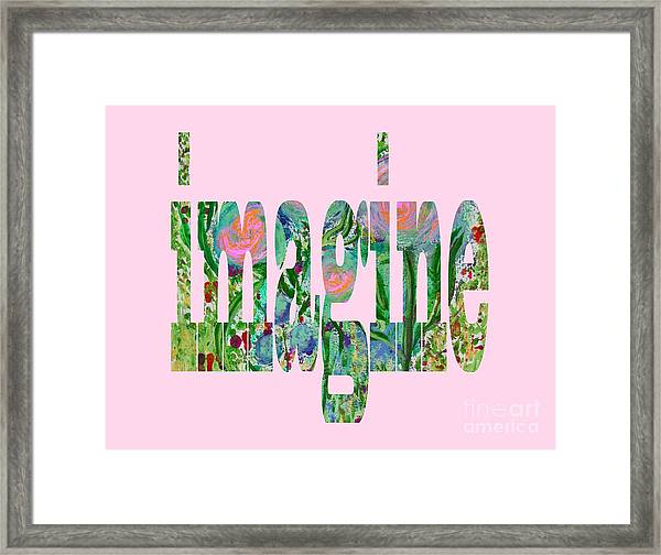 Imagine 1011 Framed Print