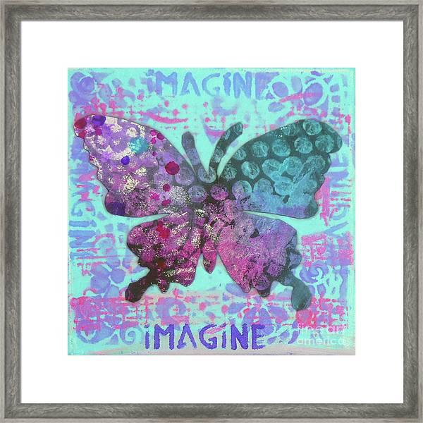 Imagine Butterfly 2 Framed Print