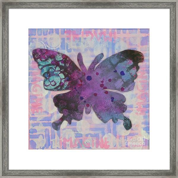 Imagine Butterfly Framed Print