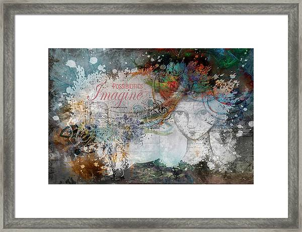 Imagine Possibilities Framed Print