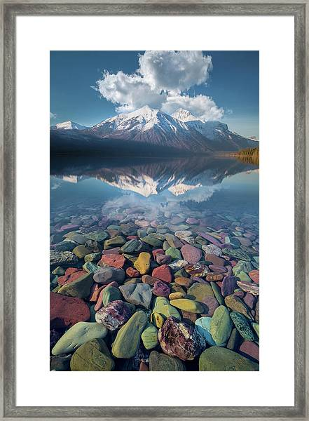 Immaculate Reflection / Lake Mcdonald, Glacier National Park  Framed Print