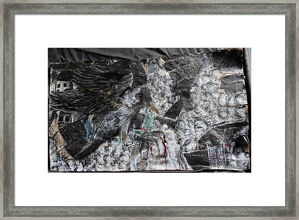 Immersed And Flawed By Cash Flow Framed Print
