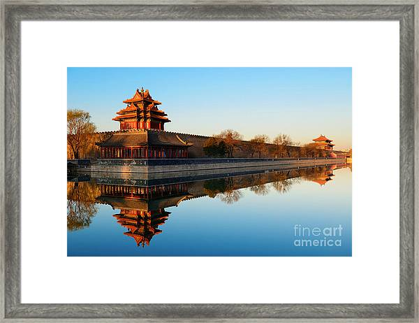 Imperial Palace Over Lake In The Framed Print