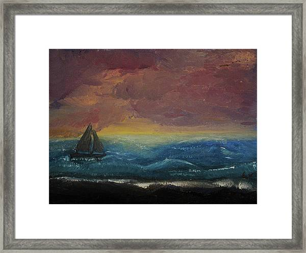 Impressions Of The Sea Framed Print