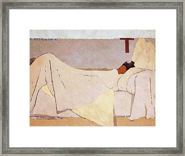 In Bed - Digital Remastered Edition Framed Print